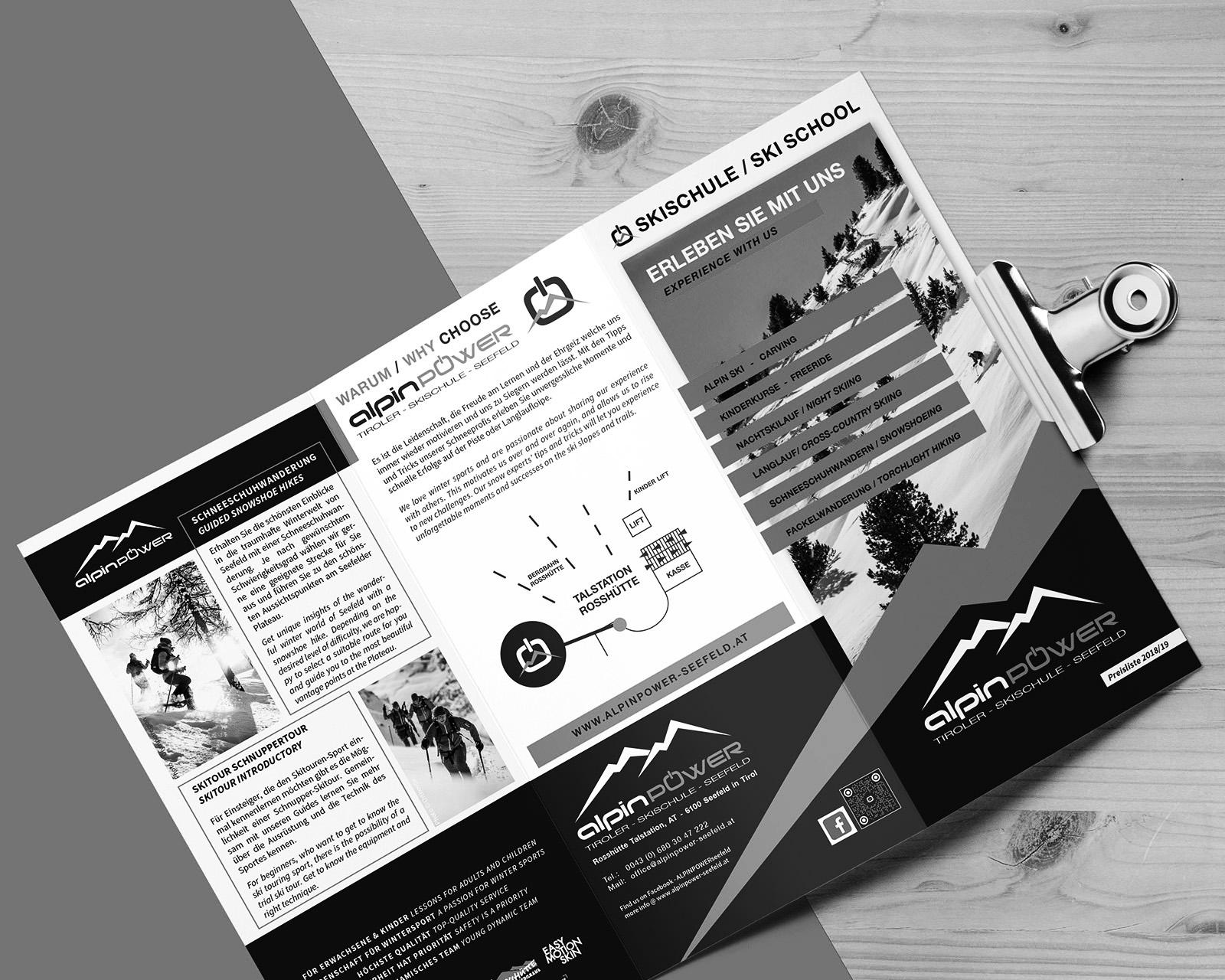 Logo & Printmedien Alpinpower Seefeld