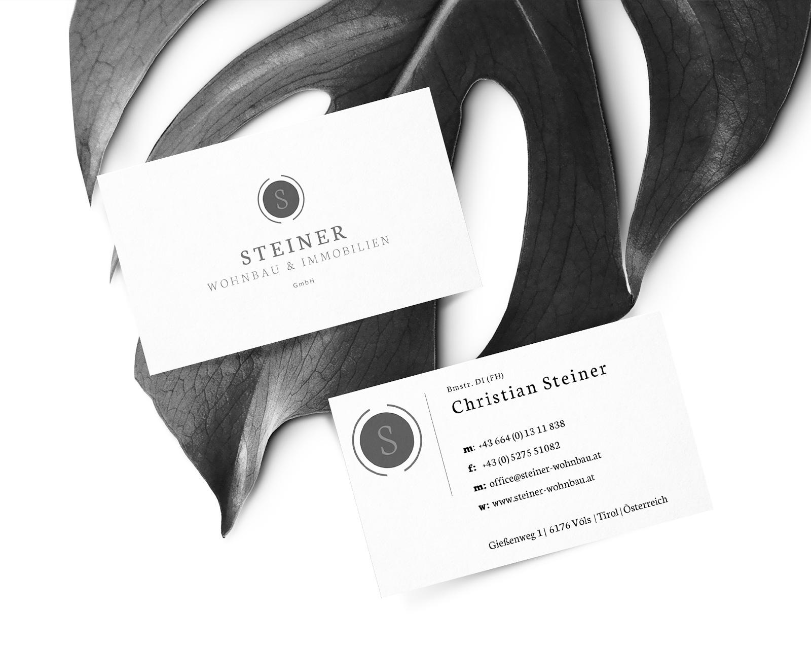 Branding Steiner Wohnbau & Immobilien Tirol